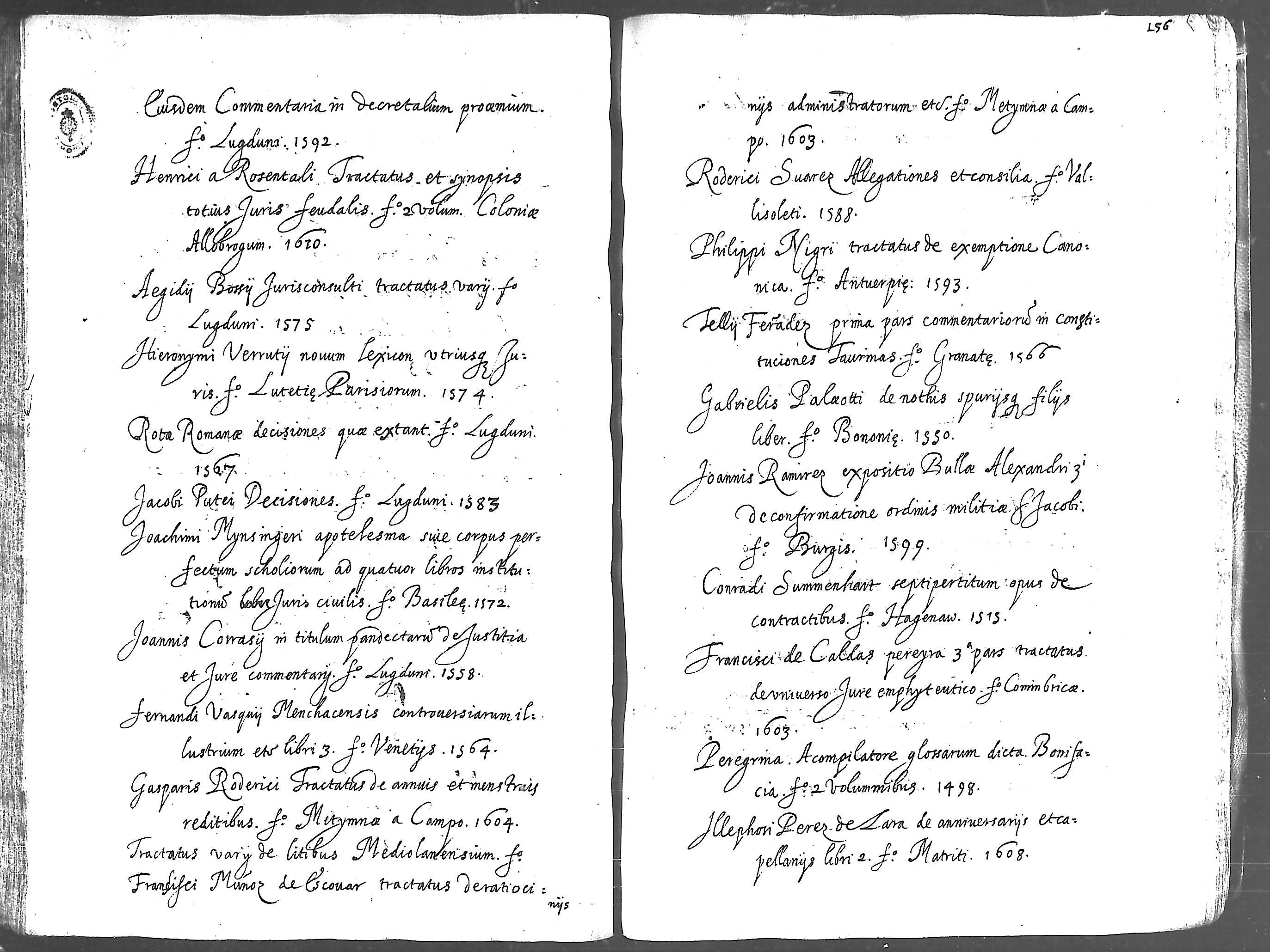 Eiusdem, Partitiones Juris Canonicis. fº. Lugduni, 1594.
