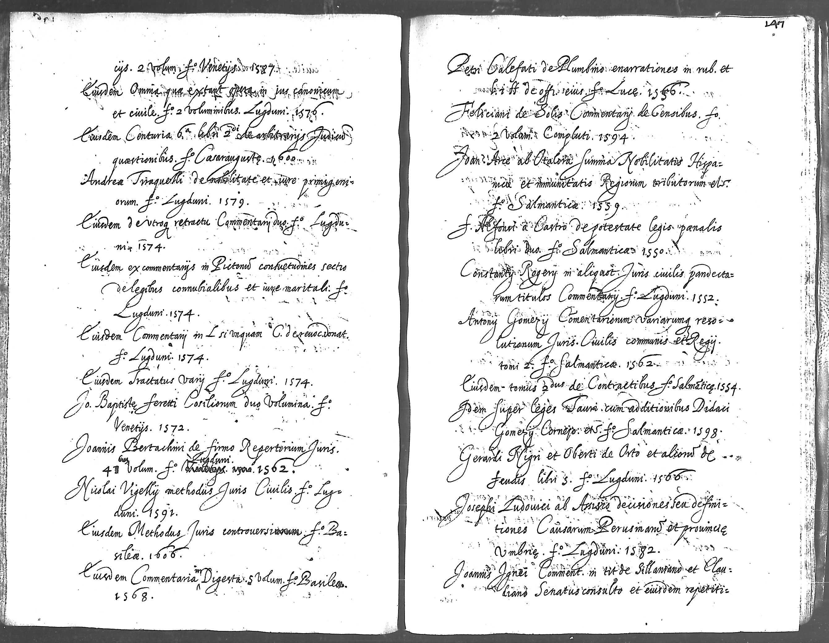 Idem, De praesumptionibus coniecturis signis et indiciis. 2 volum. fº ...